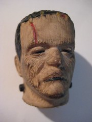 Frankenstein Creature Head 4838 (Brechtbug) Tags: portrait holiday film halloween monster by movie toy toys mask action head decoration like s frankenstein figure horror boris undead monsters universal corpse creature played decapitated karloff reanimated