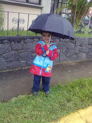 En la lluvia