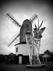P9147419 (Paul_sk) Tags: green mill windmill suffolk post saxtead