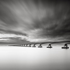 Bridge Study IX (Joel Tjintjelaar) Tags: longexposure bridge blackwhite zeeland bmw brug bwphotography blackandwhitephotography zeelandbrug neutraldensity zeelandbridge nd110 michaellevin 10stops bmw6series longexposureworkshop tjintjelaar michaellevinworkshop bmw6seriescoupeconcept 2010parisautosalon 2010parismotorshow