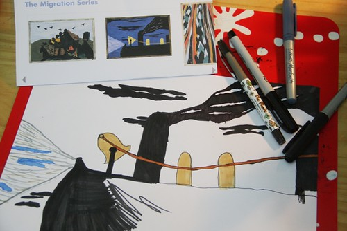 j lawrence artist study