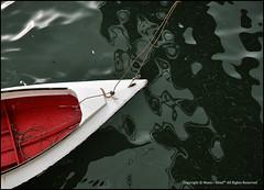 Unleash Me (Manic~Mind) Tags: red stilllife white colour texture water colors dark boat nikon ripple object inanimate rope surface malaysia borneo static kotakinabalu ripples leash sabah kk unleash d90 sigma1770mm
