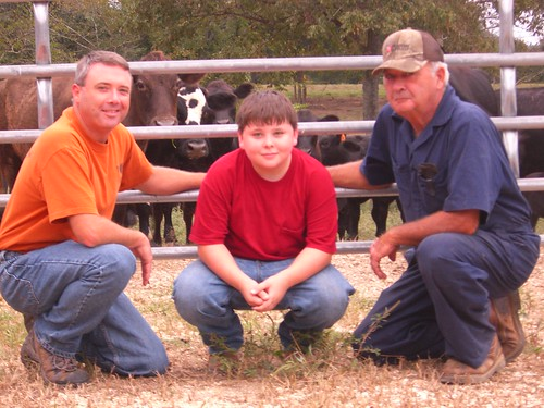 Pictured are three generations of the Mayberry farming family from Hurricane Mills, Tennessee. From left to right are Eric, Ethan and Eddy Mayberry.