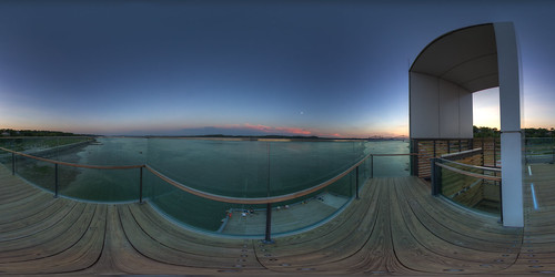 From up in the tower - Promenade Champlain - Pano in Quebec City