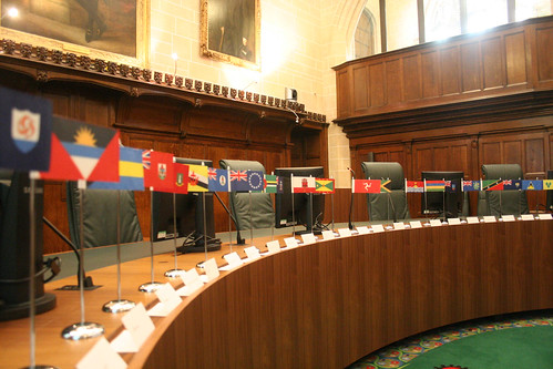 Court 3 - coincidentally set up for a Commonwealth ruling
