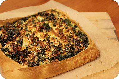 spinach+ feta pie