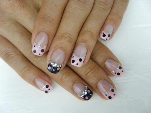 Flickriver photoset gel nailart by negril nail art pink dots french gel nail prinsesfo Gallery