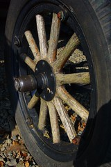 Ford Model T truck wheel (Country Squire) Tags: old tractor ford truck t model conversion farm modelt