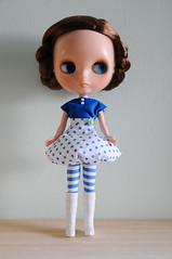 Blue Bubble Skirt