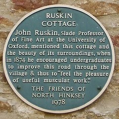 Photo of John Ruskin green plaque