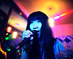 Good Girl (Jonathan Kos-Read) Tags: china portrait colorful asia singing karaoke yunnan dali asiangirl chinesecinema chinesegirl sigma20mmf18 asiancinema chinesefilm asianfilm asianactress asianeyes chinesetv hotasiangirl hotchinesegirl asiantv chineseactress chineseeyes nikond700 asianshowbusiness chineseshowbusiness
