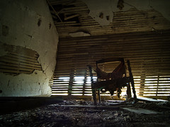 Spider Chair (Rodney Harvey) Tags: abandoned farmhouse rural spider chair decay creepy spooky oldchair