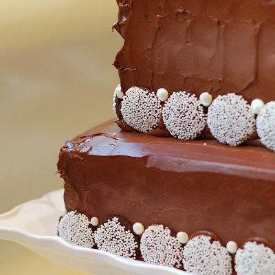 Chocolate Chocolate Mousse Birthday Cake