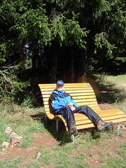 Axel auf der Relax-Bank