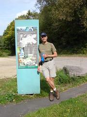 Axel am Ende des Saar-Hunsrück-Steigs