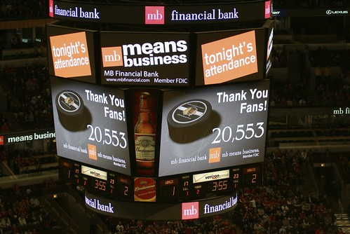 attendance record. Chicago Blackhawks (Preseason) - A new attendance record was set for a