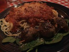 Spiedini and spaghetti