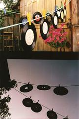 We listen to music (funkycolouredgolfball) Tags: music 35mm vinyl frame half samurai halfframe yashica x30 samuraix30
