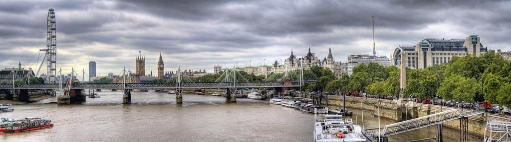Astonishing Panorama Of The River Thames (London,England)