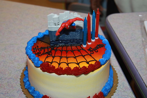 The requested Spiderman Cake