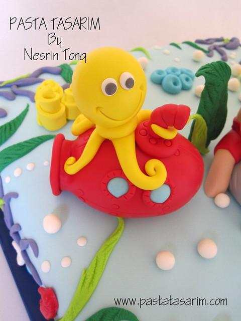 UNDER THE SEA  CAKE - 1ST BIRTHDAY DENIZ