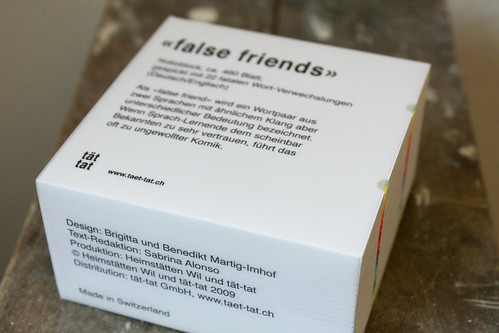 Block «false friends» von tät tät