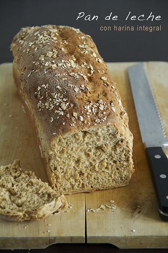 Pan de leche con harina integral