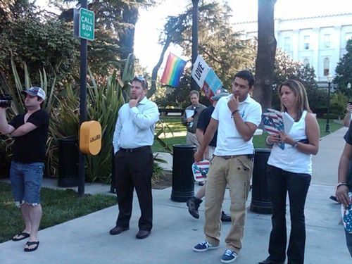 Equality supporters in Sacramento
