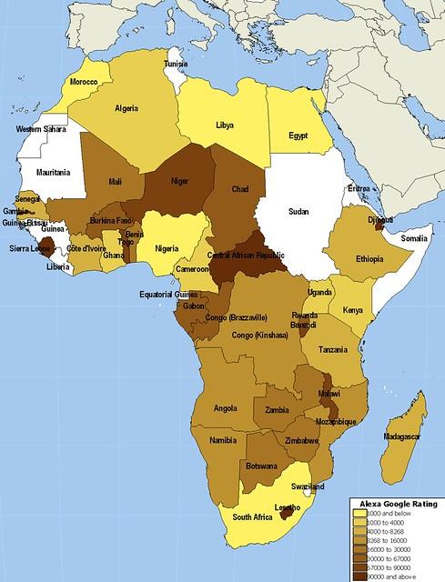 Africa Google Alexa Ranking
