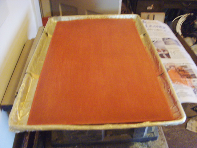 Painting panel- first coat