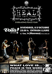 Heal the Last Stand @ Voil! caf-teatre (oriolsalvador) Tags: wales poster artwork peace tour folk livemusic americana catalunya welsh msica heal manresa voila tourposter canginestar whatloveis healthelaststand peaceistheword msicaendirecte everlastingpeacetour everybodywantspeacerecords voilcafteatre