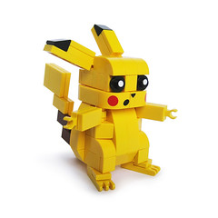 Lego Pikachu (Fredoichi) Tags: toy lego character nintendo games animation pikachu pokemon rendition smallscale fredoichi
