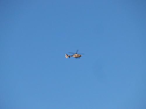 helicóptero - huelga general - manifestación en madrid