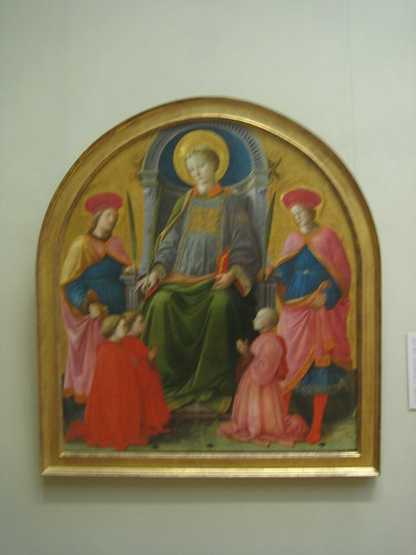 Saint Lawrence Enthroned with Saints and Donors, Fra Filippo Lippi _8273