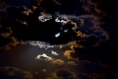 Full moon behind clouds (Danni Guzzi Schmidt) Tags: sky moon silhouette night clouds canon dark eos rebel different full behind xsi 450d justclouds dzguzzi