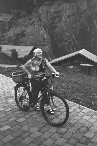 therese poses with her bike