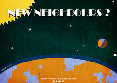 New Neighbours ? (jmgarrido.net) Tags: new black photoshop poster text retro planet com illustrator neighbours discover habitable jmgarrido fusiodg jmgarridonet