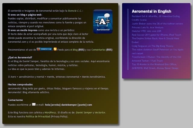 Aeromental pie de página CSS3