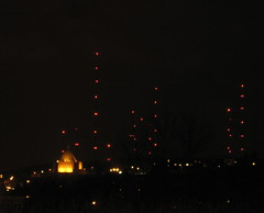 Antenna Farm at Night (Duluth Daily Photo) Tags: night antennafarm duluthdailyphotovoxcom