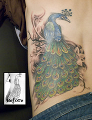 Peacock Fix-up (Mez Love) Tags: tattoo peacock tattoos mez mezlove tattooboogaloo