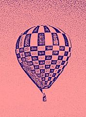 hot air balloon, sketch edit