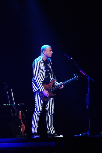 chris and his stripey suit