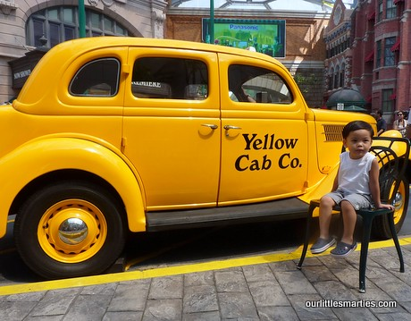 Little Edison next to the Yellow Cab
