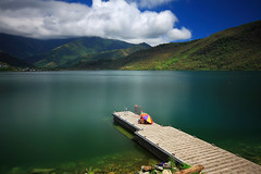 (nodie26) Tags: mountain lake color water pool speed canon scenery long tour lakes deep taiwan wave move  hualien  lapse    lowspeed           40d      memomotion