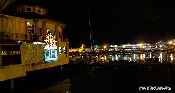 QEII - where we were hosted for dinner and free flow beer