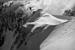Into the mountains (Ulrik Hasemann) Tags: snow france landscape climbing alpine chamonix 2010 arete