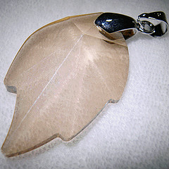 Leaf shaped Swarovski crystal - used a pendant hook to complete it as pendant