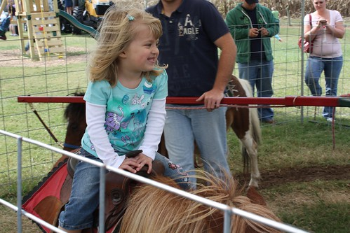 Catie LOVES the pony ride!