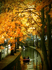 Autumn (Vineyards) Tags: autumn utrecht herfst thenetherlands waterway gracht nieuwegracht citycanal
