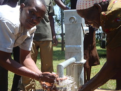 Happy people of Erechero community members for receiving clean safe drinking water from the The Water Project